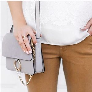 Handbags - Taupe O-Ring Crossbody Purse